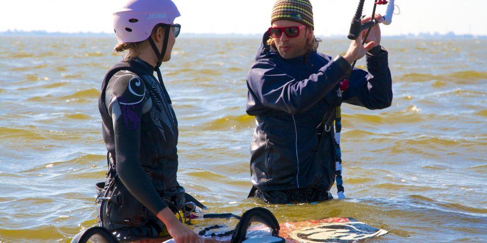 Kitesurf-Schulung